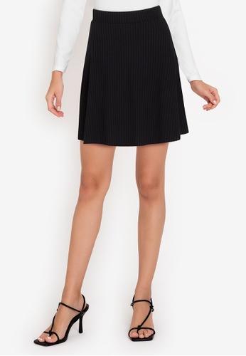 ZALORA WORK black Pleated Rib Mini Skirt 6F6BAAAFACAAC0GS_1