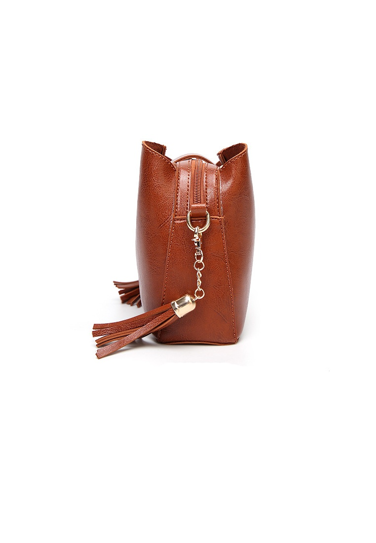 32b17564a233 ... Women s Black brown Bag Lara Tassel Crossbody Friday 6Zwpq6r ...