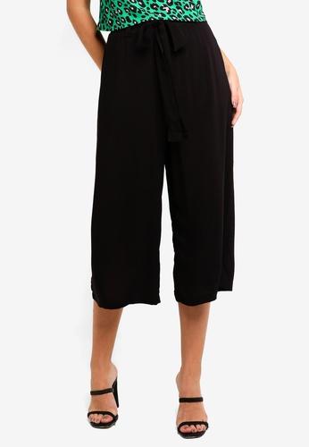 Supre black Crop Tie Waist Pants AE5F9AA7EC4E92GS_1