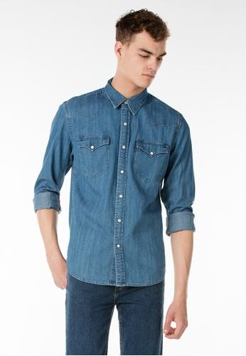 f8b46f63575 Levi s blue Levi s Classic Western Shirt LE815AA36RRNMY 1