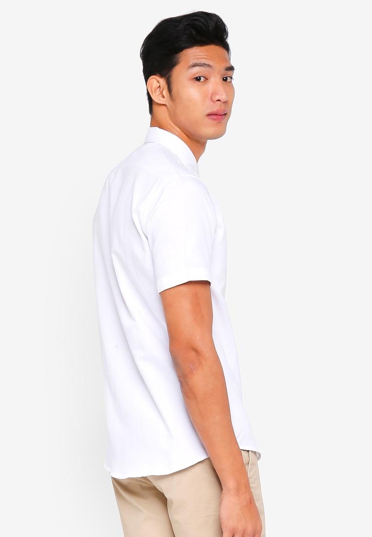 NAVY Oxford ZALORA WHITE Sleeve AND Bundle Pack Short Basic PqFEBw8xgx