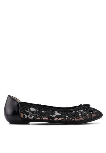 Carlton London black Bow Lace Ballerinas 852E2SHAECDFEAGS_1