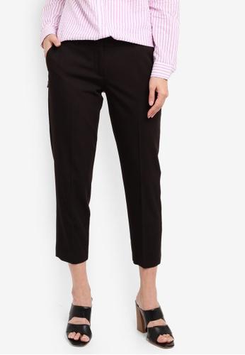 Dorothy Perkins black Petite Black Naples Ankle Grazer Pants DA0C5AA3EE5242GS_1