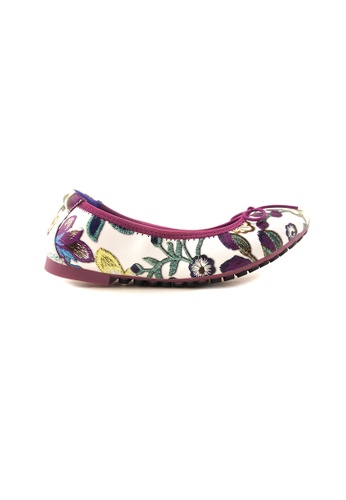 Flatss & Heelss by Rad Russel white and purple Floral Prints Flats FL655SH03SYQSG_1