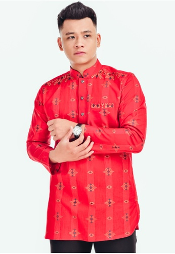 UA BOUTIQUE red Kurta Batik KLB02-051 (Red) 4C689AA4D5B908GS_1