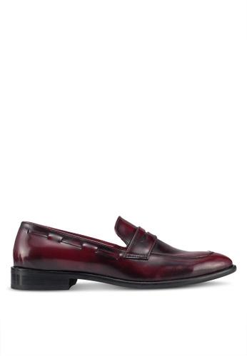 Acuto brown Leather Loafers B78EFSHD74FF4DGS_1