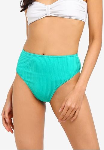 18c78d7812a97 Buy TOPSHOP Ribbed High Waist Bikini Bottoms Online on ZALORA Singapore