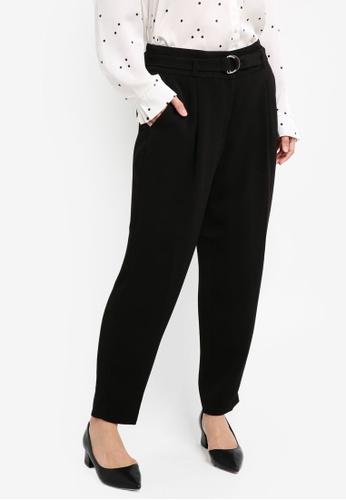 ESPRIT black Woven Cropped Pants ES374AA0T14RMY_1