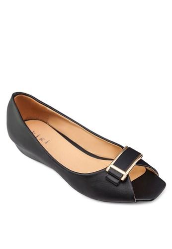 方頭露趾平底zalora 內衣鞋, 女鞋, 鞋
