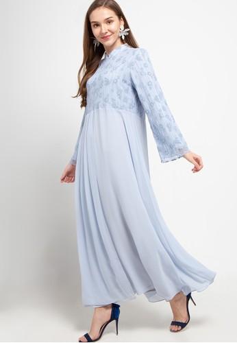 Kamilaa by Itang Yunasz blue Gamis Brokat 1CEF0AA661C221GS_1