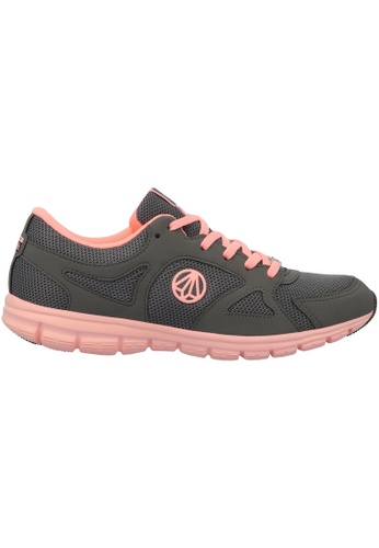 Paperplanes / 1202 Super Light Weight Mesh Walking Sneakers Shoes US Women Size / GrayPink