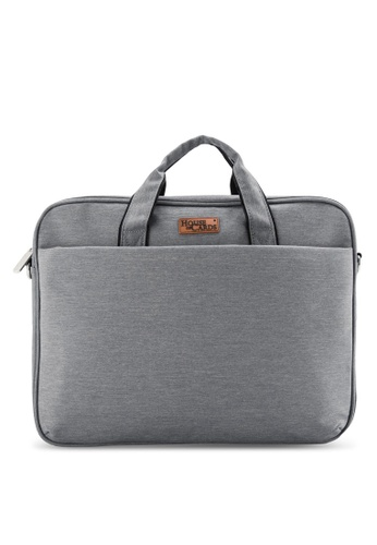 Bagstationz grey BAGSTATIONZ Stylish 2-Way 15.6inch Laptop Bag BA607AC16JXJMY_1