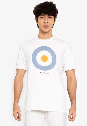 Ben Sherman white Target Tee 820A7AA7779640GS_1