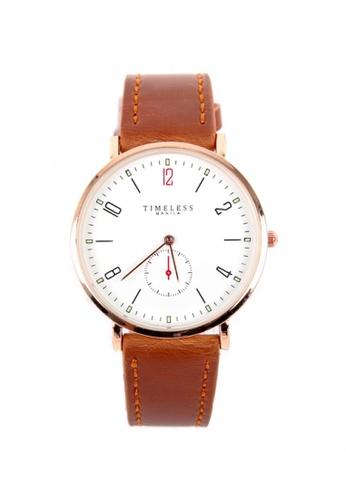 Timeless Manila brown Peyton Leather Men's Watch 1FD47AC26AF3EAGS_1