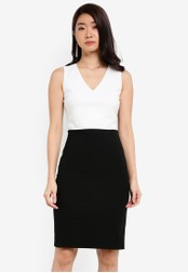 ZALORA black Essential Colourblock Dress 8B1F2ZZ8BD0B48GS_1