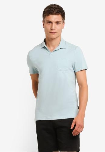 Burton Menswear London green Mint Resort Collar Polo Shirt BU964AA0RM6VMY_1