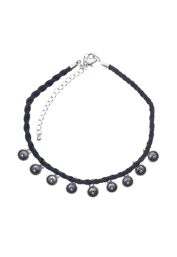 LUCCACAL silver Etched Charms Choker LU294AC47VCIMY_1