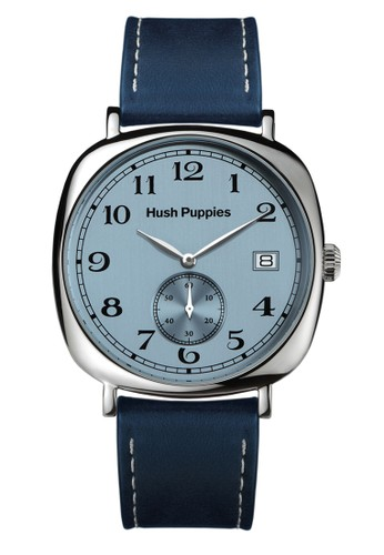 Hush Puppies Est. 1958 Multifunction Men's Watch HP 3858M.2503 Ligh Blue Dark Blue Leather