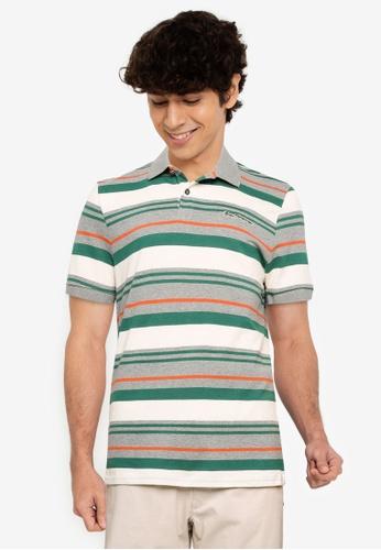 Ben Sherman grey Block Stripe Polo Shirt 3292CAAE094445GS_1