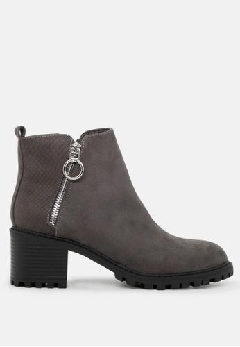 London Rag 灰色 侧拉链短靴 SH1758 01626SH142FB7FGS_1