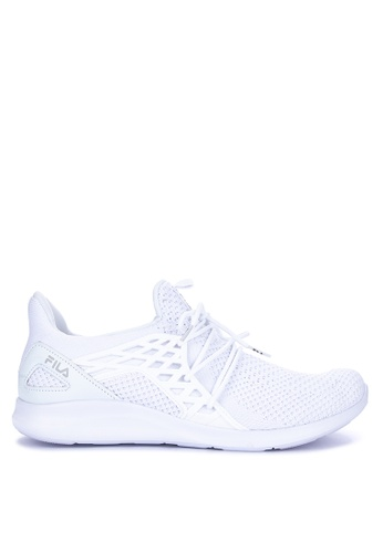 Fila white Accomplish Running Shoes 5FAC1SH78BD9F2GS_1