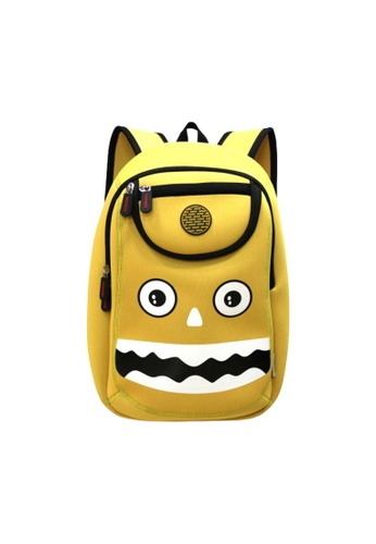 Nohoo yellow Nohoo Kids Backpack Happy Monster (Yellow) 2D7AAKC9BE26A8GS_1
