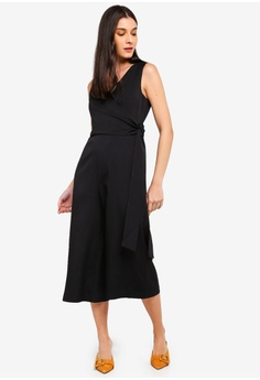 b431c01778 10% OFF ZALORA Satin Self Tie Jumpsuit RM 119.00 NOW RM 106.90 Sizes XS S M  L XL