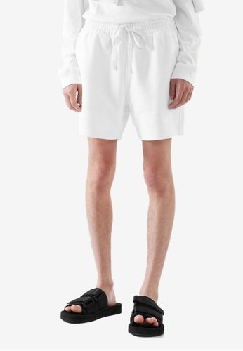 COS white Relaxed-Fit Sweat Shorts D00B3AAB1C93B7GS_1