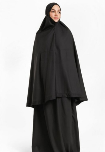 ZAAHARA Zaahara Telekung Hidaya in Black with Pocket 0C69DAAAE6D11BGS_1