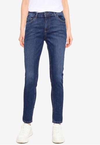 Aeropostale blue Mid Rise Skinny Jeans 038F2AA00E9D9CGS_1
