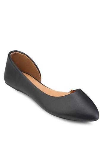 Pippa 側空尖頭平底鞋,esprit outlet台北 女鞋, 鞋