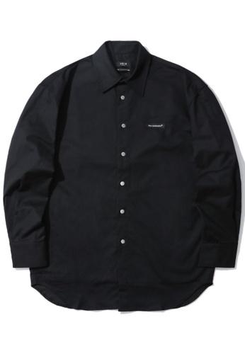 Fivecm black Logo patch poplin shirt 992BFAA30EBD36GS_1