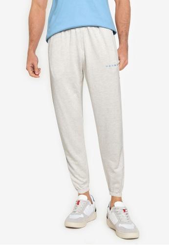 Mennace grey Essential Regular Jogger Pants 1B413AA0BFCC87GS_1