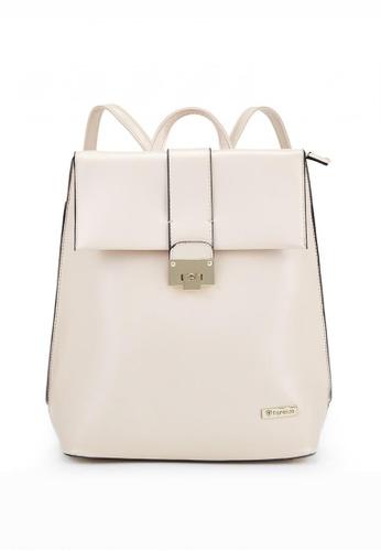 florenzo beige Florenzo Beige Backpack with Top Handle FL898AC0RTARMY_1