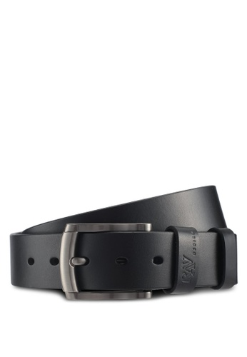 RAV Design black 40MM Leather Belt 31306AC2EB8EA0GS_1