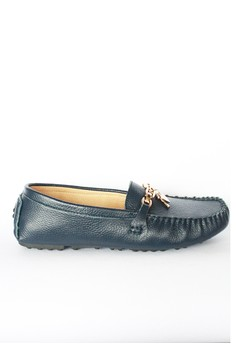 Kyle' Key Heart Leather Driving Shoes