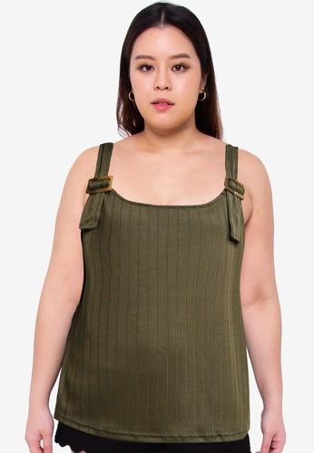 Vero Moda green Plus Size Siba Tank Top 73CEEAA3D48F25GS_1