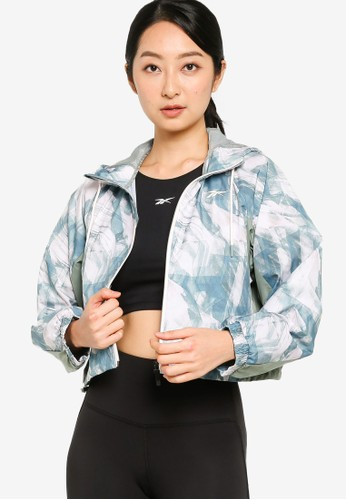Reebok pink Kireifit Allover Print Windbreaker Jacket 26260AAB6A0E41GS_1