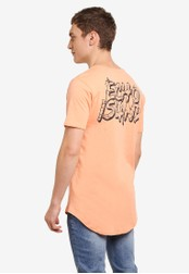 Factorie orange Curved Tail Tee FA880AA0SAANMY_1