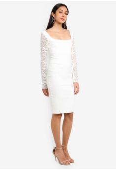 d5cd82a0cd2 55% OFF Vesper Vesper Millie Mini Dress With Lace Long Sleeve RM 309.00 NOW  RM 138.90 Sizes 8 10 12 14