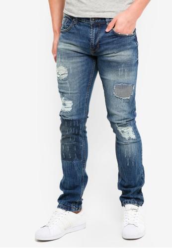 Indicode Jeans blue Halmstad Skinny Fir Distressed Jeans EB151AABFF7BDDGS_1