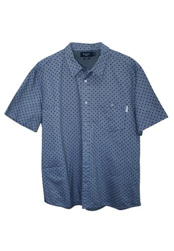 Paul Smith 藍色 二手 paul smith 勃艮第圓點牛仔褲短袖襯衫 88009AA8A44041GS_1