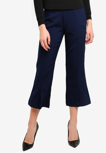 LOST INK navy Awkward Length Slim Trousers 6FD97AABF6184AGS_1