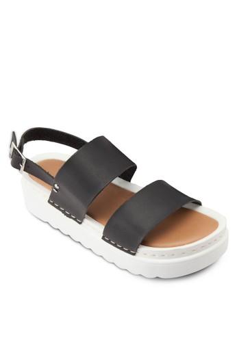 雙帶厚底休閒涼zalora 手錶 評價鞋, 女鞋, 鞋