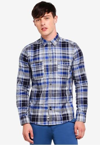 Sisley white Check Shirt. FD4E7AACE03970GS_1