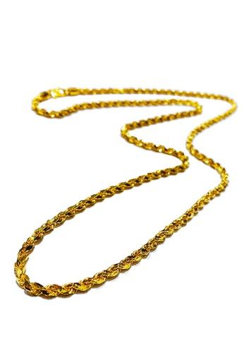 LITZ gold LITZ 916 (22K) Gold Necklace 钱串项链 N0006-45cm-7.92g+/- D8B54ACBAAF268GS_1