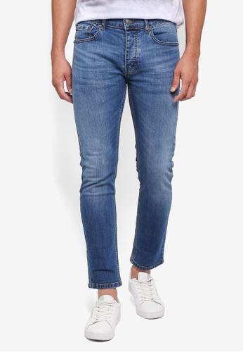 Burton Menswear London 藍色 修身牛仔褲 6022DAA4DDCFEAGS_1