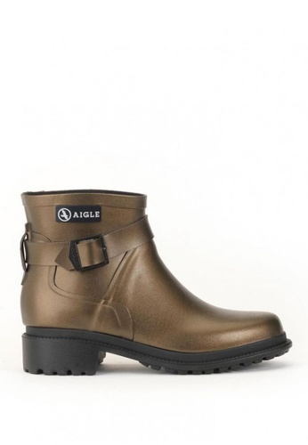 Aigle gold Macadames Low Rubber Boots 6DB93SH142CFB5GS_1
