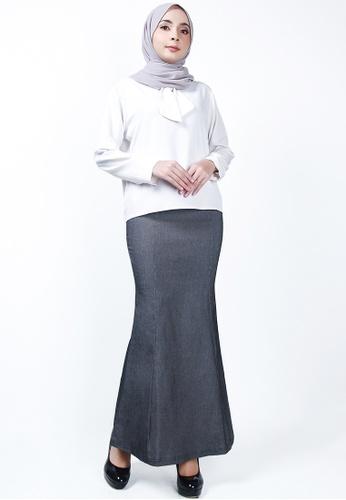 Ladies Jeans grey Executive Long Skirt 25C4BAAA787AFAGS_1
