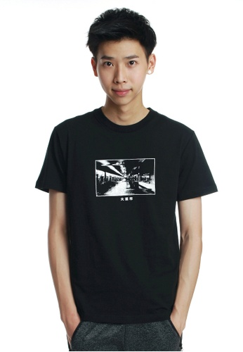 Praise black Photo Graphic Tee PR067AA07OCMSG_1